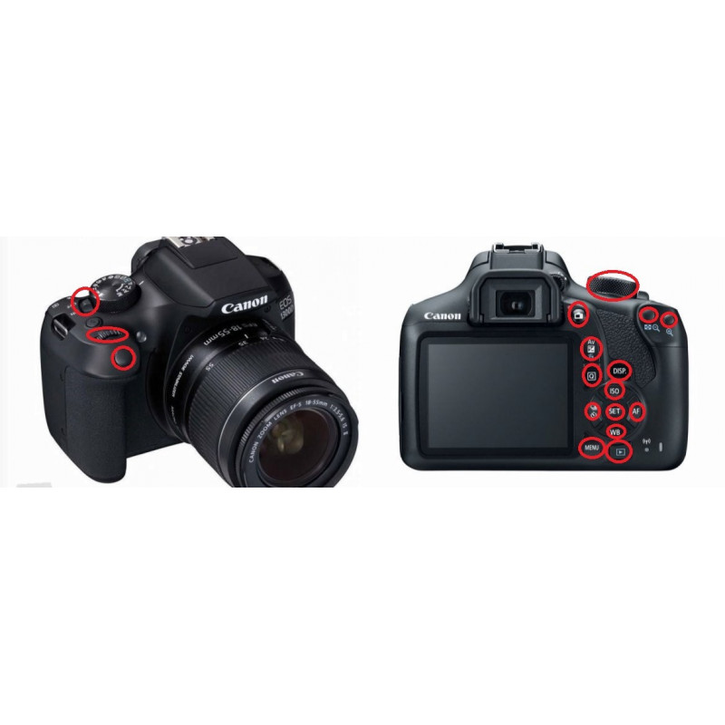 Canon Eos 2000d: Underwater Housing For Canon Eos 1300D (T6)